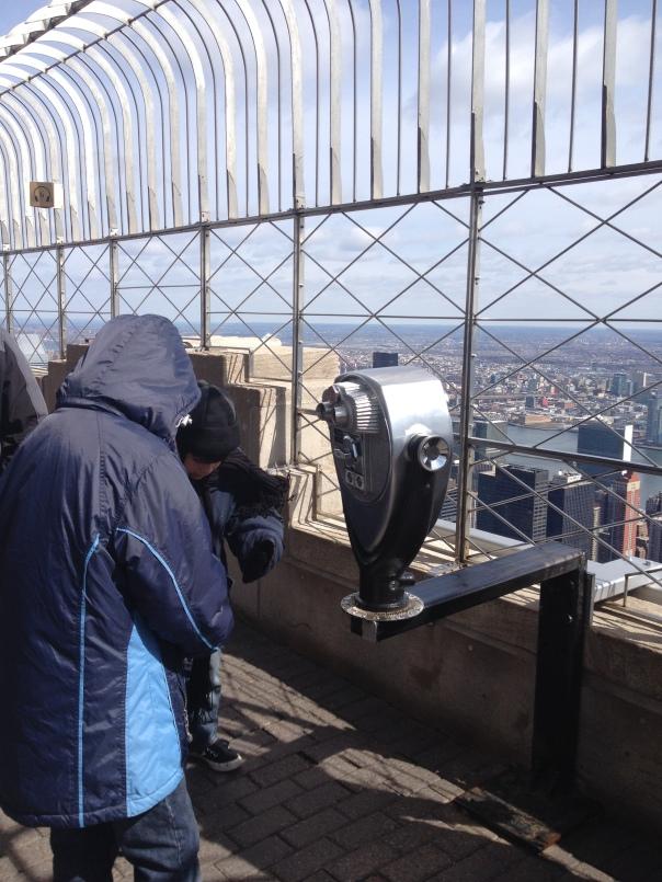 El edificio Empire State, que increíble la vista. Ese día había muchísimo frío.