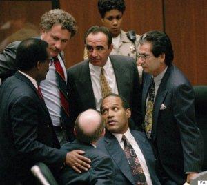Johnnie L. Cochran Jr., Peter Neufeld, Robert Shapiro, Robert Kardashian, and Robert Blasier