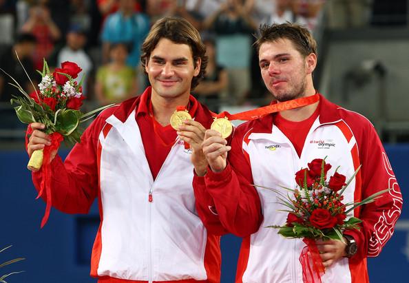 Federer y Wrawrinka fueron oro en dobles en Beijing 2008