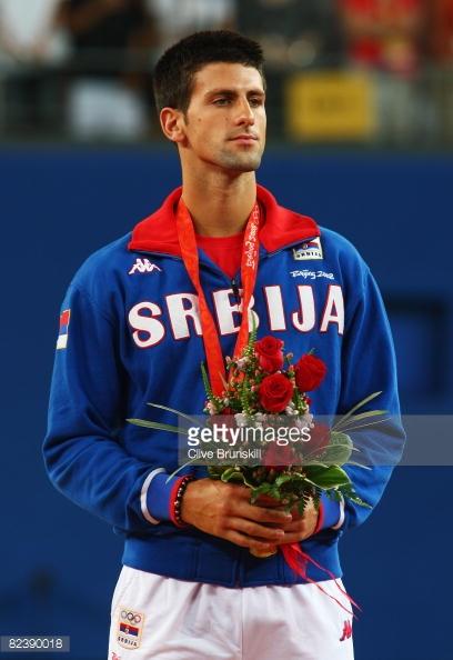 Djokovic fue medalla de plata en Beijing 2008