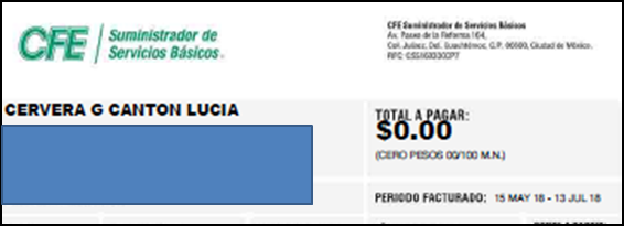 RECIBO JULIO